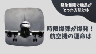 航空機に時限爆弾が!乗客293人を救うために機長がとった緊急着陸の方法とは