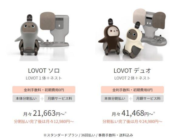 LOVOTの価格は高い?