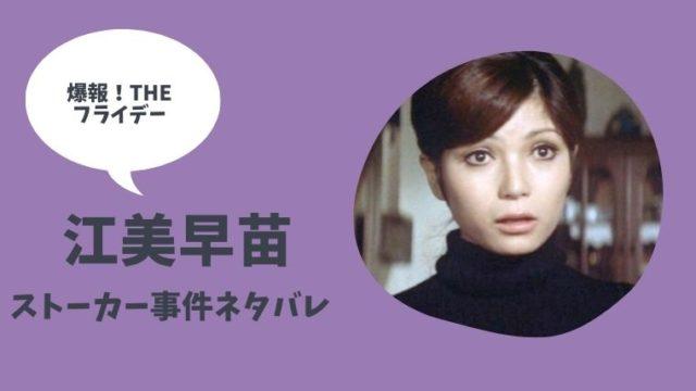 爆報THEフライデー元アイドルXストーカー事件ネタバレ